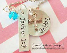 Cross & Verse Personalized Necklace- Easter Christening Baptism Communion Gift! - Edit Listing - Etsy