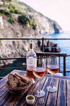 Pie' de Ma' - a bar with a view at Riomaggiore, Italy. This is romantic sipping wine and eating fresh bread dipped in olive oil and garlic. Romancing the day when you are in love. Whole30, Cheers, Viva Luxury, Wine Photography, Riomaggiore, In Vino Veritas, Wine Time, Vacation Ideas, Wines