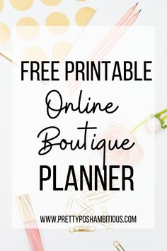 One resource to keep all boutique business organized, the FREE printable boutique planner. #onlineboutique #boutiqueplanner #printableplanner #fashionboutique Free Planner, Printable Planner, Happy Planner, Free Printables, Starting A Tshirt Business, Work From Home Careers, Business Inspiration, Business Ideas, Free Activities For Kids