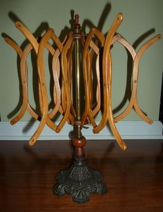 Rare Antique English Yarn Winder with Brass Ornamentation and Cast Iron Base | eBay  345.00