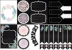 inspiration florale à imprimer et découper pour décorer les planners