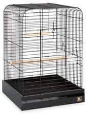 NEW BIRD CAGE PARROT PET FUN SIZE TOP SQUARE ROOF STAND SUPPLY CUPS SWING PERCH