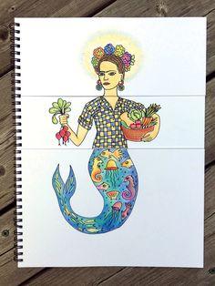 Feminist mermaid mix-n-match coloring book. AMAZING!!