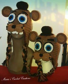 Crochet five nights at freddy's  Freddy faz bear hat MadebyMe  Maria'sCrochetCreations