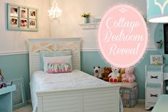 Beautiful Little Girl's Handmade Cottage Bedroom on a Budget at www.mom4real.com @Jessica Kielman         {Mom 4 Real}