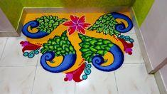 Rangoli Designs Latest, Beautiful Rangoli Designs, Free Hand Rangoli Design, Rangoli Ideas, Clipboard, Decor, Decoration, Paper Holders, Decorating