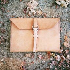 For the Writer or Artist a Handmade DIY Leather Portfolio