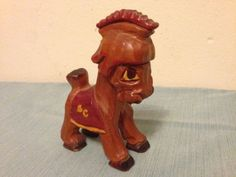 Carter Hoffman USC Trojans Horse Mascot Wooden Hand Carved Vintage RARE 1950s