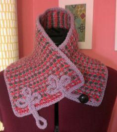 Tunisian crochet cowl pattern for sale from Crochet By Faye