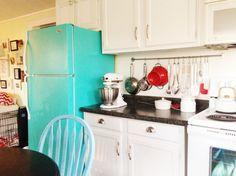 How to make a boring fridge look retro cute!