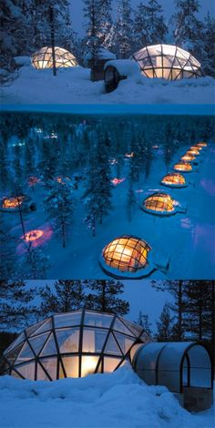 igloo glass hotel...comfy waiting in bed for the polar light