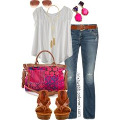 "#plus #size #outfit ""Summertime - Plus Size"" by alexawebb on Polyvore"