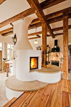 Bild 42 von Grundöfen Home contemporary fireplace design Contemporary Fireplace Designs, Modern Fireplace, Contemporary Decor, Deco Design, Basement Remodeling, Decorating On A Budget, Living Spaces, Sweet Home, House Design