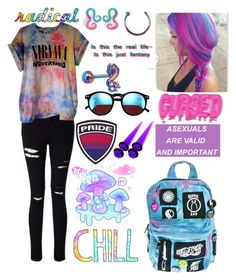 Radical by miles7713 on Polyvore featuring polyvore fashion style Miss Selfridge Current Mood Hot Topic Wildfox clothing