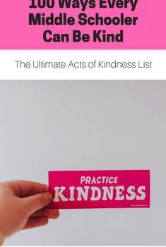 100 ways teenagers can be kind. Promote kindness in schools. Boost school culture with random acts of kindness Health Lesson Plans, Health Lessons, Middle School Health, Dramatic Play Area, Health Activities, Middle Schoolers, Play Areas, Random Acts, Health Education