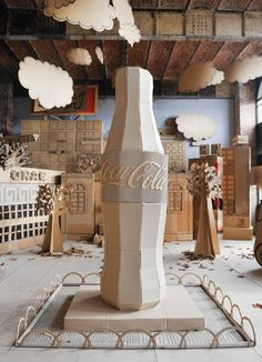 #CocaColacardboardcity # eventinstallation #papercity