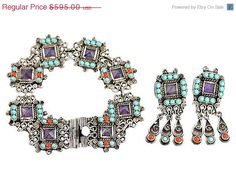 35% OF SALE Vintage Mexican Silver by VintageJewelryChick on Etsy
