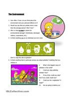 This is a workshett to practise the use of vocabulary about the environment. First students have to match words with their definitions or synonyms, and next use some of those words in context. - ESL worksheets