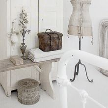 love the dark basket with all the white and gray