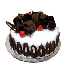 Eggless Black forest Round Cake