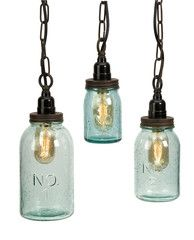 Rustic Industrial Mason Jar Pendant Lights