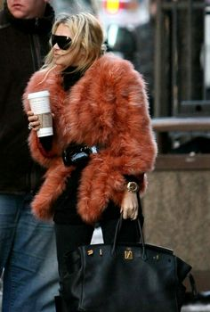 fur coat.  how awesome is this look