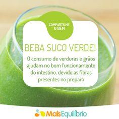 5 bons motivos para você incluir sucos verdes no seu cardápio! http://maisequilibrio.terra.com.br/suco-verde-2-1-1-752.html