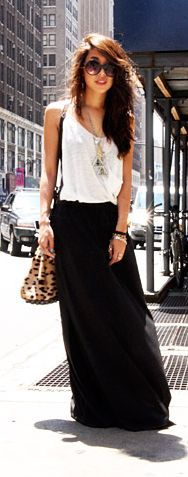 And another black maxi...