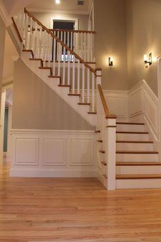 oak flooring Stairs painted diy (Stairs ideas) Tags: How to Paint Stairs, Stairs painted art, painted stairs ideas, painted stairs ideas staircase makeover Stairs+painted+diy+staircase+makeover Painted Staircases, Painted Stairs, Painted Wood, Red Oak Floors, Light Oak Floors, Hardwood Floor Colors, Hardwood Floors, Oak Flooring, Hardwood Stairs