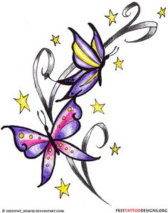 Butterfly Tattoos, Designs And Ideas : Page 47