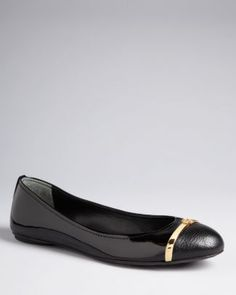 Tory Burch Cap Toe Ballet Flats - Pacey | Bloomingdale's