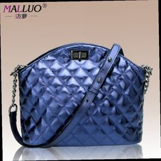 44.16$  Watch here - http://ali01p.worldwells.pw/go.php?t=32779983648 - MALLUO Women Shoulder Bag Genuine leather Diamond Lattice Evening Totes Luxury Handbags Women Bags Designer Women Messenger Bags 44.16$