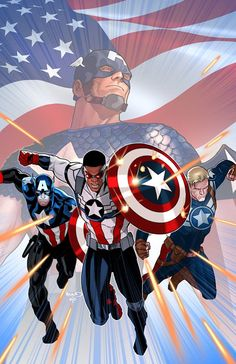 A STANDOFF tie-in! Sam Wilson, Steve Rogers, and Bucky Barnes team up for a heroic stand against the evil that lurks in Pleasant Hill. Continues the blockbuster spring Avengers event, STANDOFF! NICK SPENCER (W) Marvel Comics, Ms Marvel, Arte Dc Comics, Marvel Heroes, Iron Man Avengers, The Avengers, Secret Avengers, Captain America Comic, Capitan America Marvel