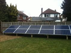 If you would like solar pv but don't have a suitable roof why not consider a ground mounted solar pv system.