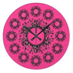 Glitterlicious Bubble Gum Pink Wall Clock #zazzle #clock #glitter #pink #walldecor http://www.zazzle.com/zazzlewallclocks