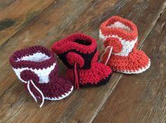 Collegiate Colors Tassel Cowboy Booties by MaeDayCrochetShop university of Texas, Texas tech and A&M colors so far! University Of Texas, Texas Tech, M Color, Baby Booties, Baby Photos, Photo Props, Tassels, Crochet Earrings, Booty