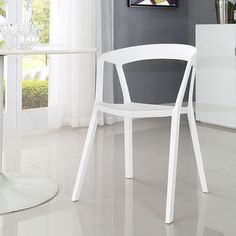 Tread Dining Armchair in White