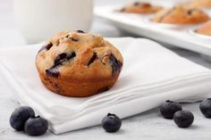 beautiful blueberry muffins...in bed!