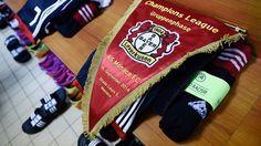O balneário do Leverkusen antes da visita ao Mónaco, na primeira jornada