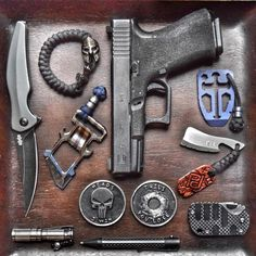 Nothing but bad ass pictures and badass gear from this guy! | @para_dime | ・・・ Looking to add to your EDC? Check out the offerings below, available in-store online: Spartan Bracelet Punisher Challenge...