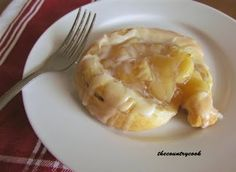 """Easy Apple Danish.....made with crescents......(my fav ingredient) and fruit filling.....EASY is the key word here and delicious is the """"final"""" word!"""