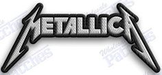 METALLICA  - iron on 100% embroidered embroidery patches -  3.5 x 1.5   INCHEs  heavy metal rock n roll band thrash ONE   100% EMBROIDERED PATCHES -   SEW IT ON OR IRON IT ON OR JUST ADD TO YOUR COL