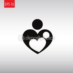 Vectorillustratie van moeder liefde symbool — Stockillustratie #110237840 Mother Daughter Tattoos, Tattoos For Daughters, Tarot Tattoo, Tattoo Symbole, Family Tattoos, School Gifts, Love Symbols, Mothers Love, Diy Cards