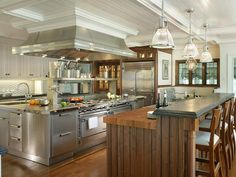 Transitional Stainless Steel Kitchen in Beautiful, Efficient Kitchen Design and Layout Ideas from HGTV