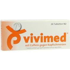 VIVIMED mit Coffein gegen Kopfschmerzen Tabletten:   Packungsinhalt: 20 St Tabletten PZN: 00410324 Hersteller: Dr. Gerhard Mann Preis:…