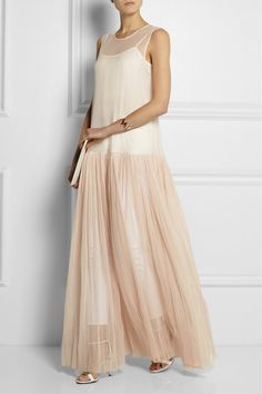 Ruched Cotton-tulle Maxi Dress by Haider Ackermann