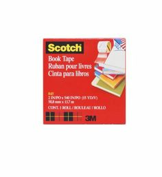 Scotch® Book Tape 845, 2 Inches x 15 Yards by Scotch. $5.27. Excellent for repairing, reinforcing, protecting and covering bound edges and surfaces. Use on books, magazines, pamphlets, record album jackets and more.