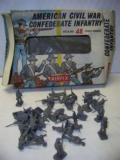 AIRFIX H0 & 00 SCALE US CIVIL WAR CONFEDERATE INFANTRY