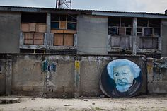 https://flic.kr/p/f6HLuB | Genius on the streets... | Explored | An artist's impression of Nobel Prize winner Wole Soyinka (clicked at Victoria Island, Lagos). Here in Lagos, I have spotted several beautiful paintings just decaying on the road-side...