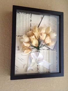 Preserve wedding bouquet and make shadow box